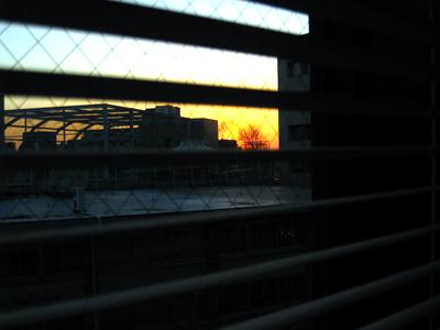 12月20日の日没の風景